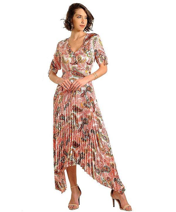 Vestido Longo Bianca Coral