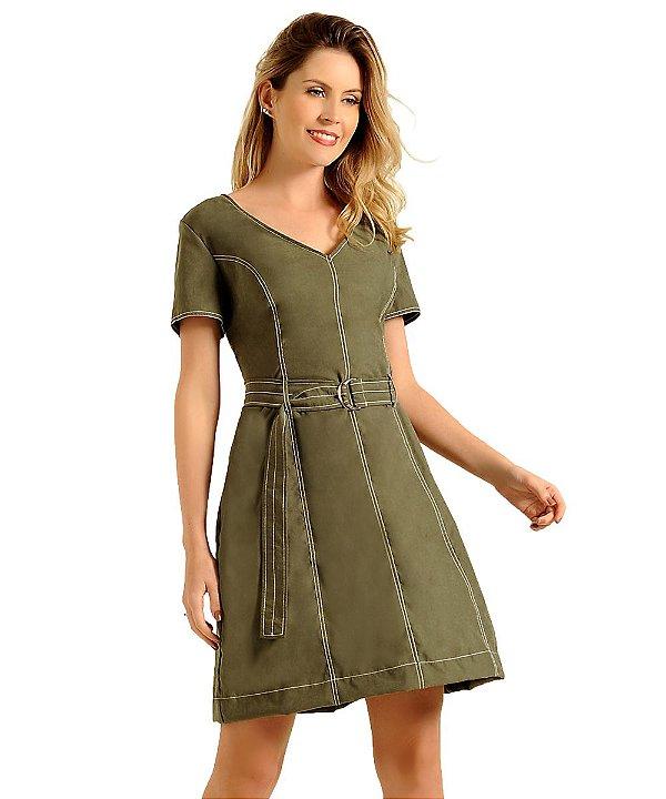 Vestido Laura Militar