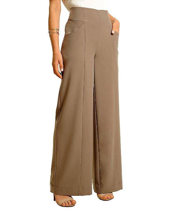 Calça Pantalona Marcela Marrom