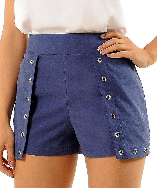Shorts Saia Fernanda Azul
