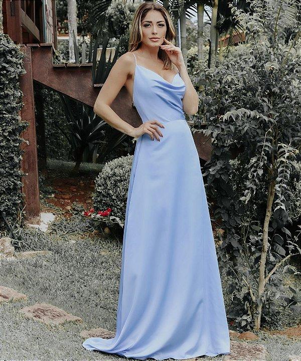 Vestido Longo Joice Azul