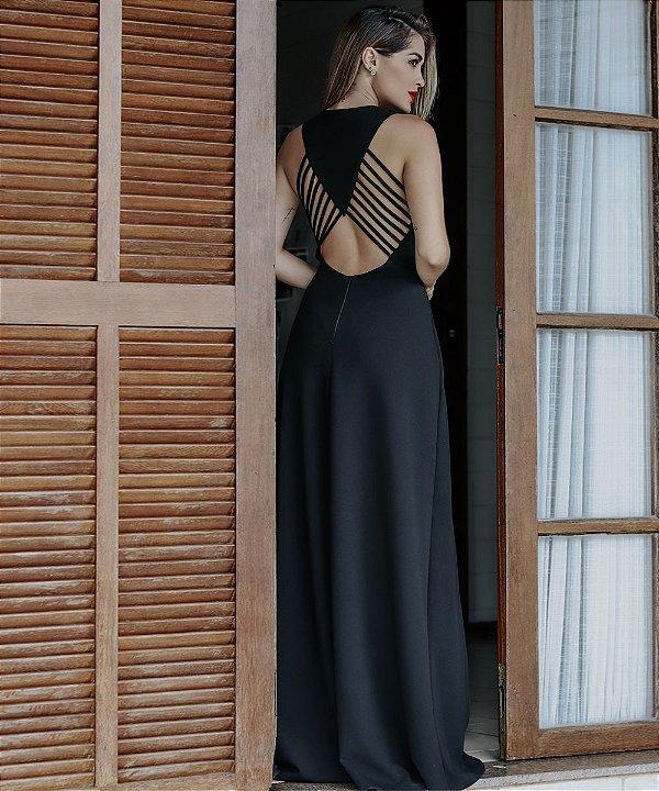 Vestido Longo Daiane Preto
