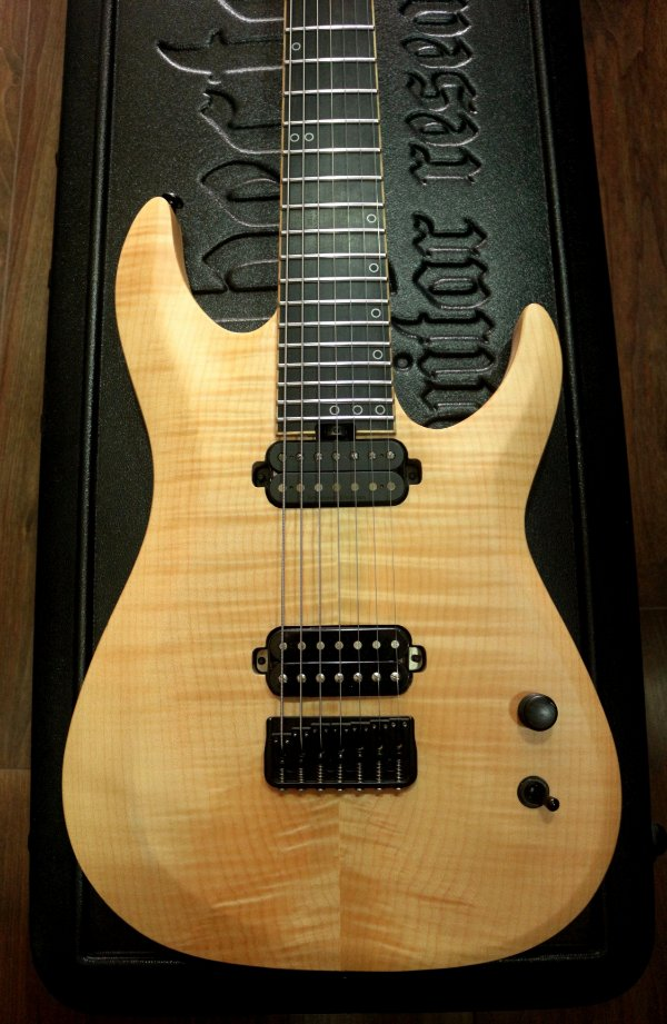 Guitarra Schecter Km7 MKII (keith Merrow) Natural Pearl + case Schecter