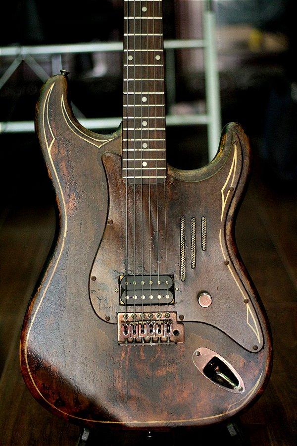 Guitarra Strato Amg Custom Rat Hod ( Dimarzio )