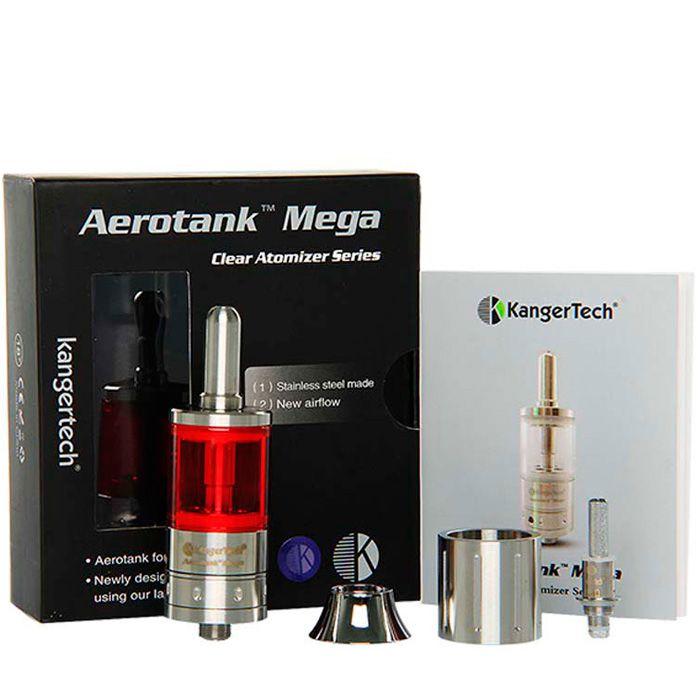Cartomizador Aerotank Mega 3,8ml KangerTech™ - Cores: Roxo ou Vermelho