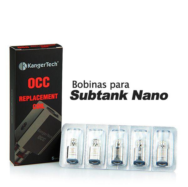 Bobinas Subtank Vertical OCC (Organic Cotton Coil) (Cx. com 5 unidades.)