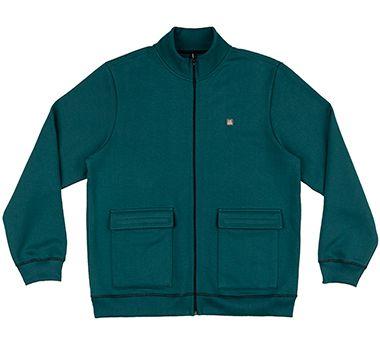 Jaqueta  Plus Size em Moletom na cor Verde