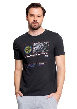 Camiseta Masculina Chumbo c/ Estampa