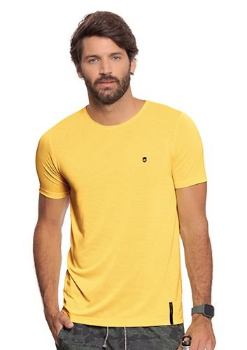 Camiseta Masculina Amarela - Linha Fitness