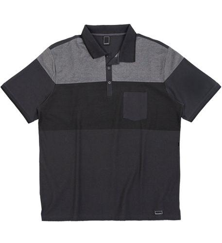 Camisa Polo Plus Size Chumbo c/ Recortes e bolso