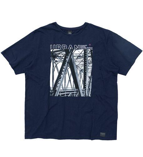 Camiseta Plus Size na cor Azul Escuro - Estampa Urban