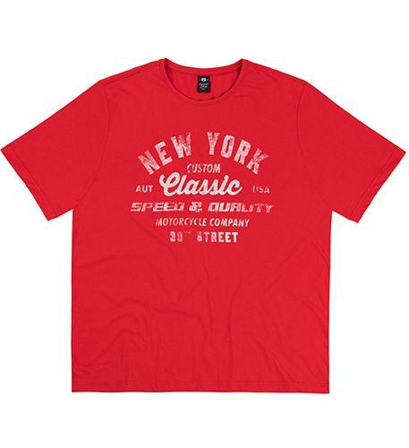 Camiseta Plus Size Vermelha c/ Estampa Vintage
