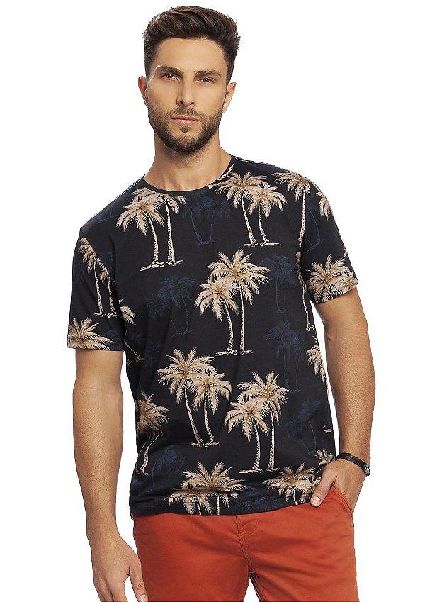 Camiseta Masculina Trópico em Estamparia Digital