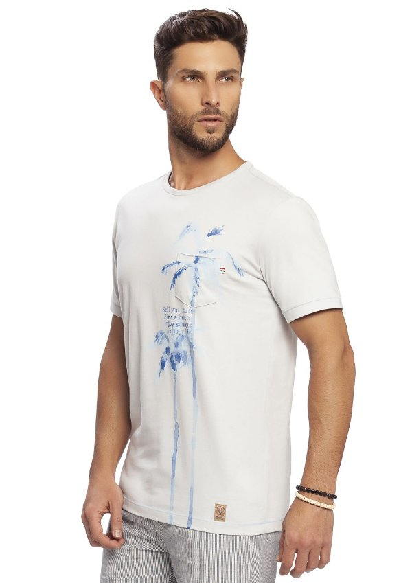 Camiseta Masculina Estampa Verão