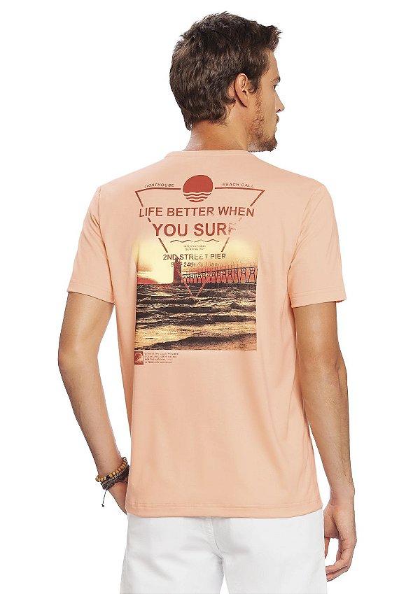 Camiseta Estampada nas Costas