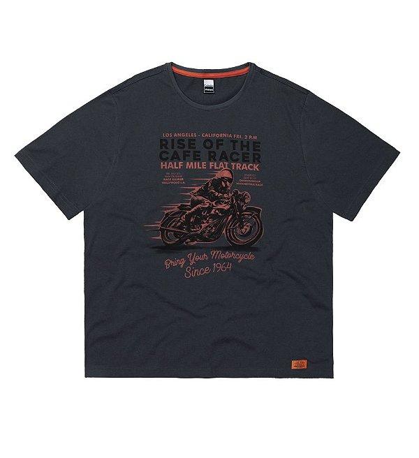 Camiseta Masculina Plus Size Moto Aventura