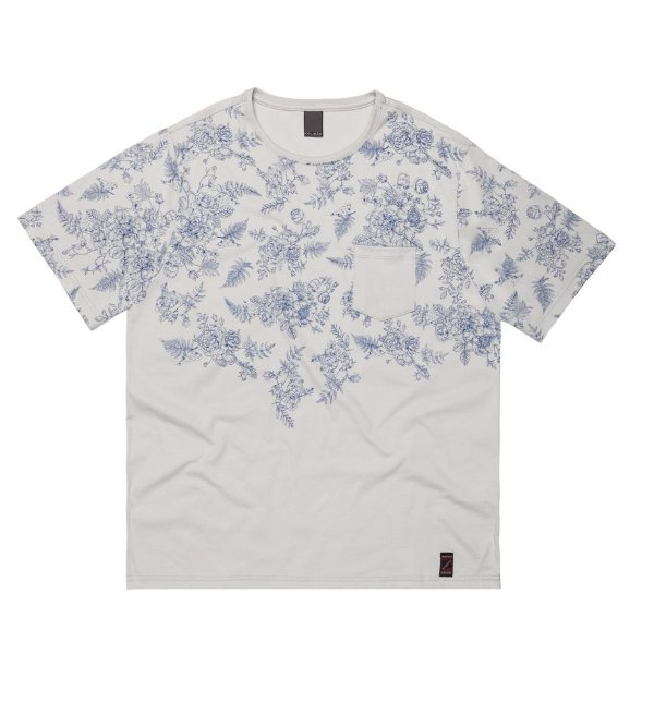 Camiseta Masculina Plus Size Floral