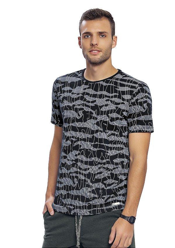 Camiseta Masculina Full Print Camuflado Moderno