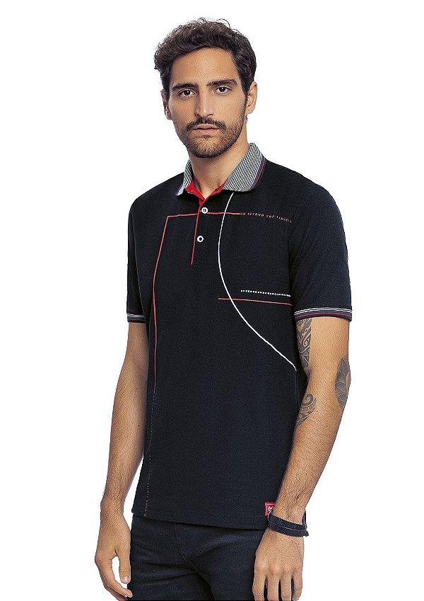 Camisa Polo Adulta Masculina Estilo Esportivo