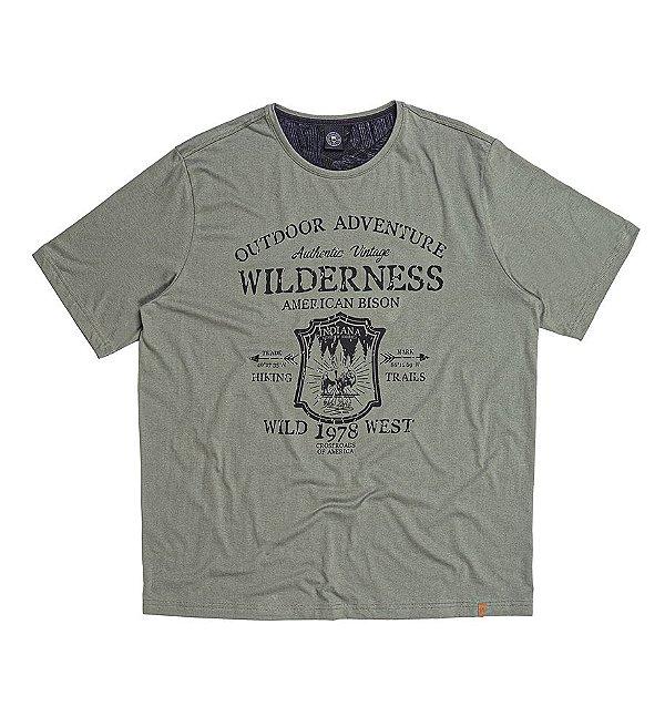 Camiseta Masculina Plus Size Wilderness