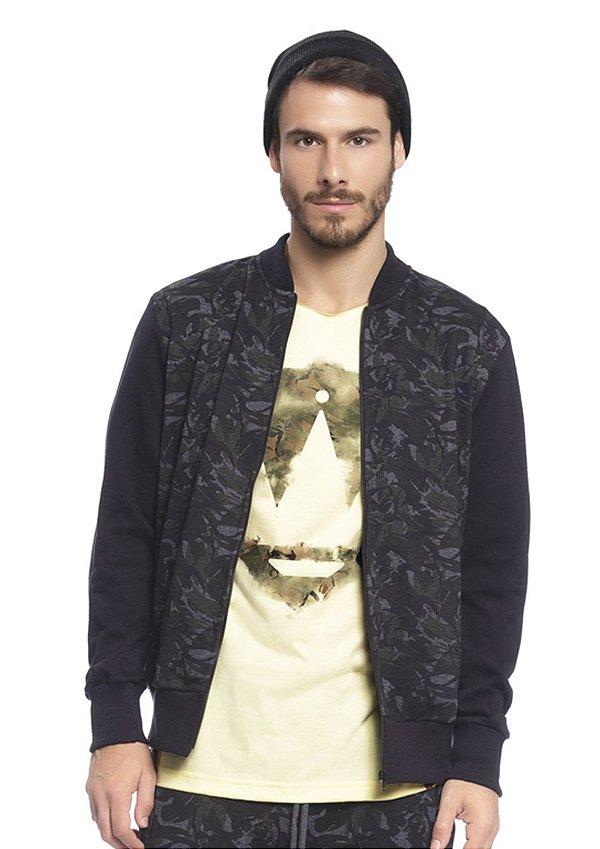 Jaqueta Masculina em Moletom Camuflada