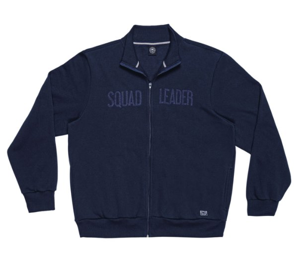 Jaqueta em Moletom Masculina Plus Size na cor Azul Marinho