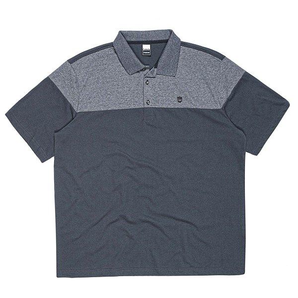 Camisa Polo Plus Size com Recorte