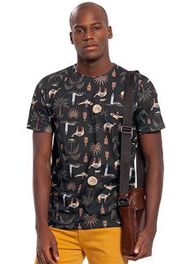 Camiseta Masculina com Estampa Inspiração Marroquina