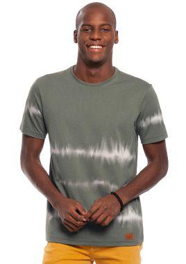 Camiseta Masculina Estampa Estilo Tie Dye