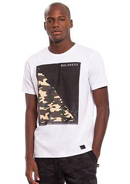 Camiseta Masculina Branca com estampa
