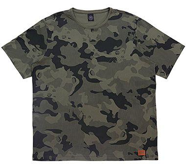 Camiseta Plus Size Masculina com Estampa Militar