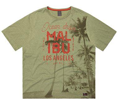 Camiseta Plus Size Masculina com Estampa de Palmeiras
