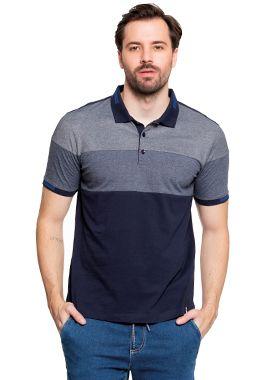 Camisa Polo Masculina com Recortes