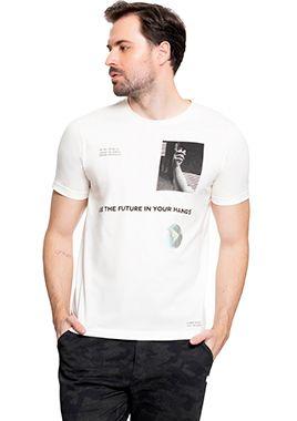 Camiseta Masculina Estampa com Apelo Sustentável