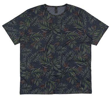 Camiseta Plus Size Masculina Full Print - Azul Escuro