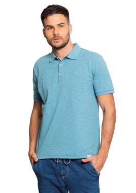 Camisa Polo Masculina Básica na cor Azul Claro