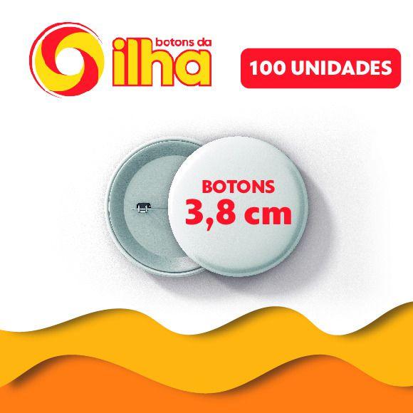 Botons Personalizados de 3,8 cm - 100 Peças