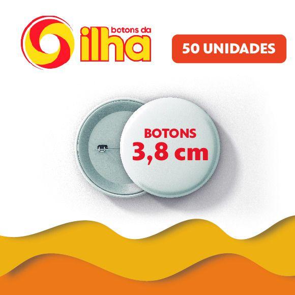 Botons Personalizados de 3,8 cm - 50 Peças