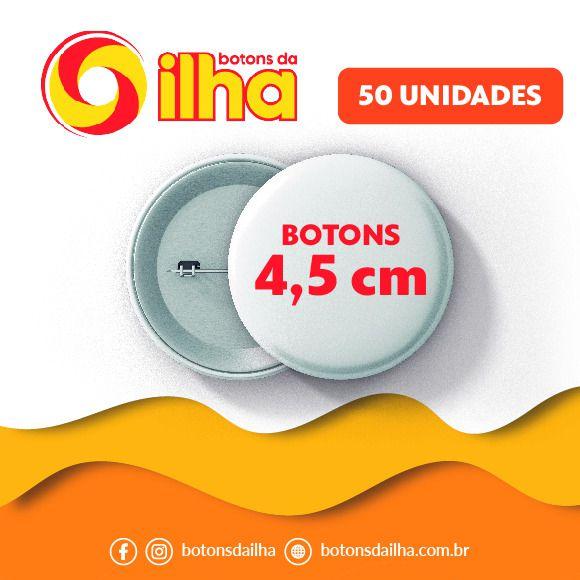 Botons Personalizados de 4,5 cm - 50 Peças