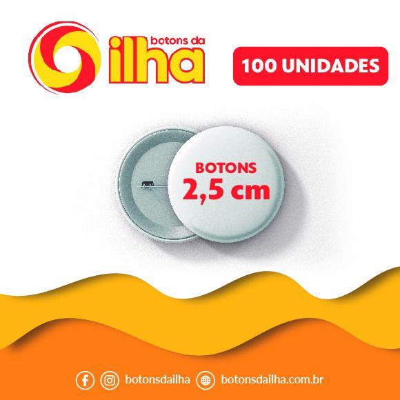 Botons Personalizados de 2,5 cm - 100 Peças