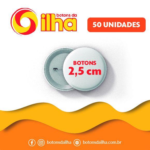 Botons Personalizados de 2,5 cm - 50 Peças