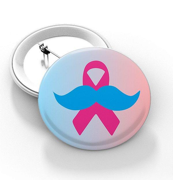 Boton outubro rosa e novembro azul - 3,8 cm - Modelo 10  - 100 Peças
