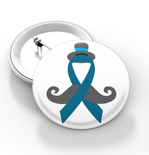 Boton Novembro azul - 3,8 cm - Modelo 04  - 100 Peças