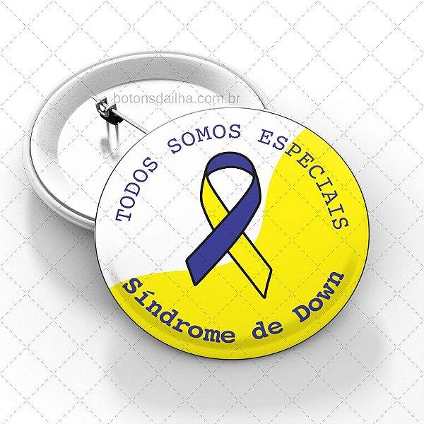 Boton Dia Internacional da Síndrome de Down - Modelo 14