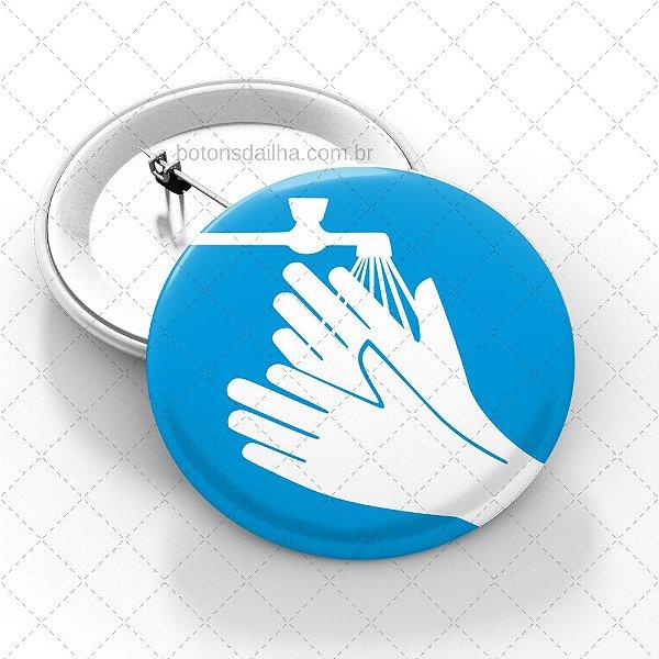 Boton Lave as mãos - Modelo 12