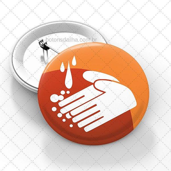 Boton Lave as mãos - Modelo 17