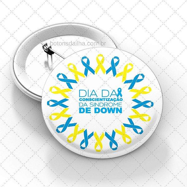 Boton Dia da Síndrome de Down - Modelo 09