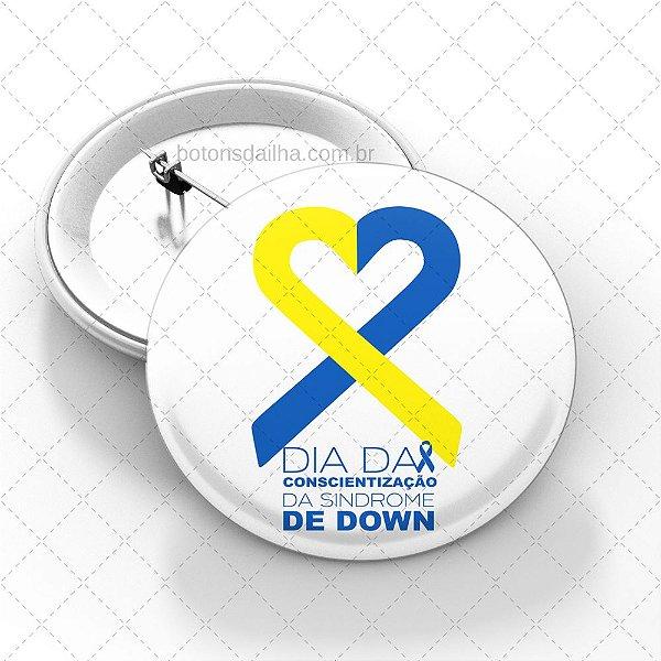 Boton Dia da Síndrome de Down - Modelo 12