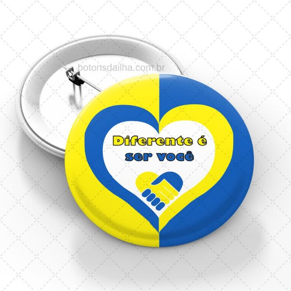 Boton Dia da Síndrome de Down - Modelo 19