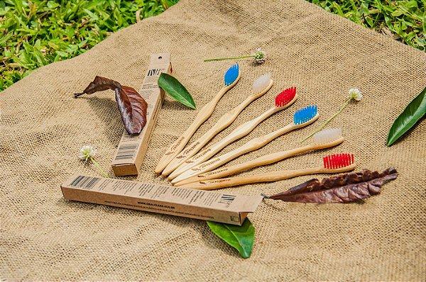 Escova de dentes de bambu - 1 unidade
